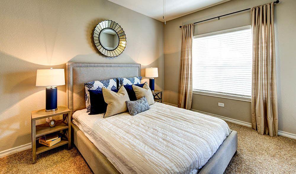 Cozy bedroom at Marquis at Deerfield, San Antonio