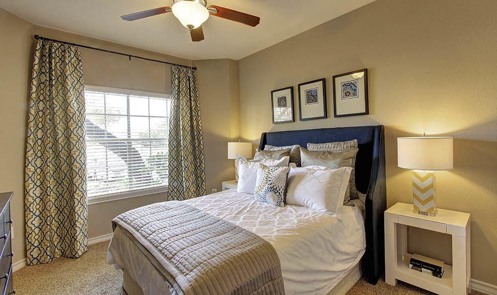 Model bedroom at Marquis at Deerfield