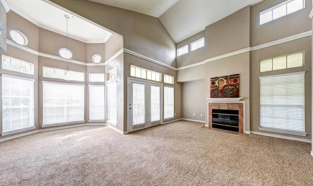 Open living room at Marquis at Deerfield