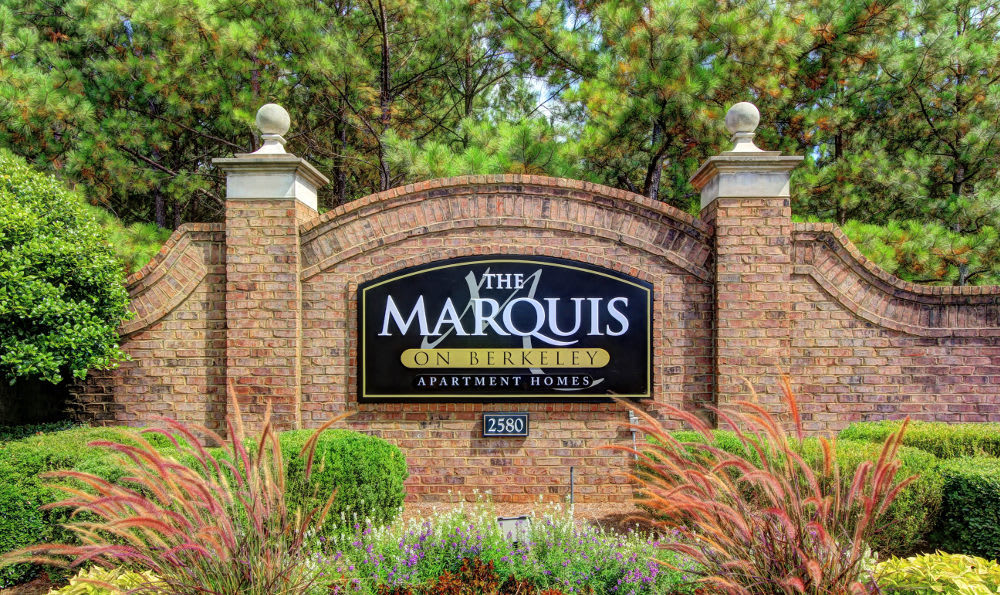 The Entrance sign at The Marquis on Berkeley in Duluth, The Marquis on Berkeley