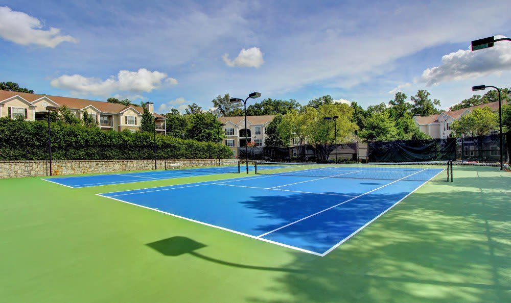 Get some exercise at the tennis courts at The Marquis on Berkeley in Duluth, The Marquis on Berkeley