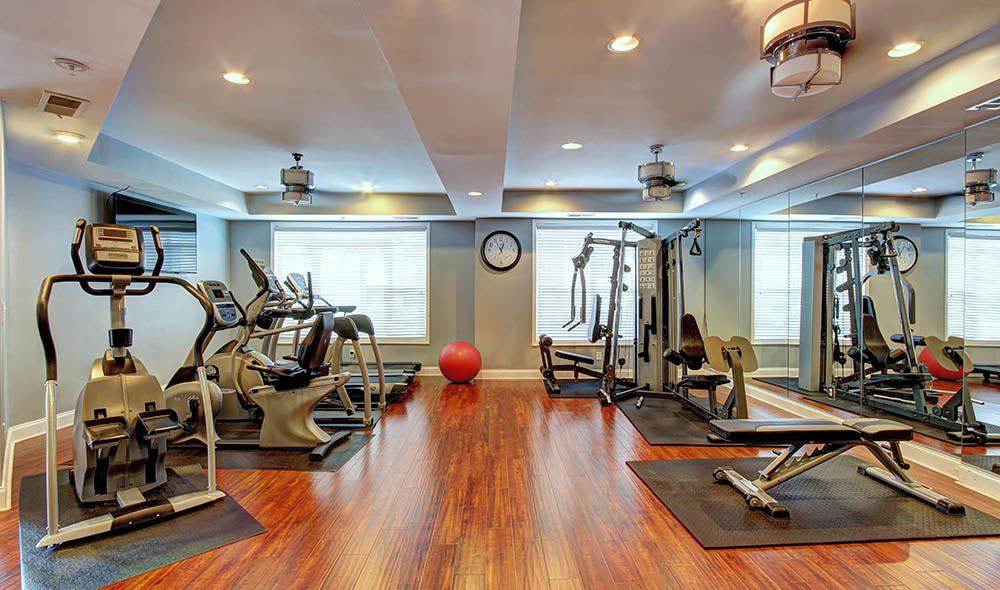 Fully equipped gym at Marquis Midtown West