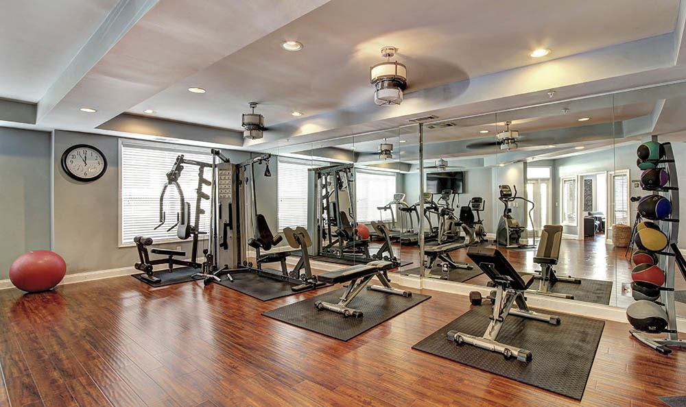 Fitness center at Marquis Midtown West
