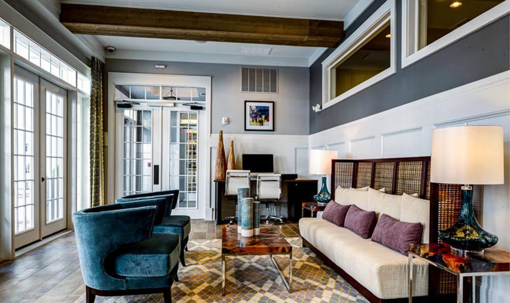 Luxurious lobby of The Jane Atlanta