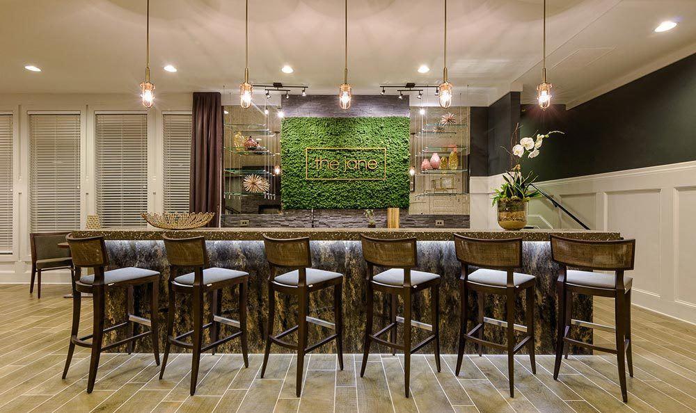 Enjoy bar seating in the kitchen at The Jane Atlanta in Atlanta, GA