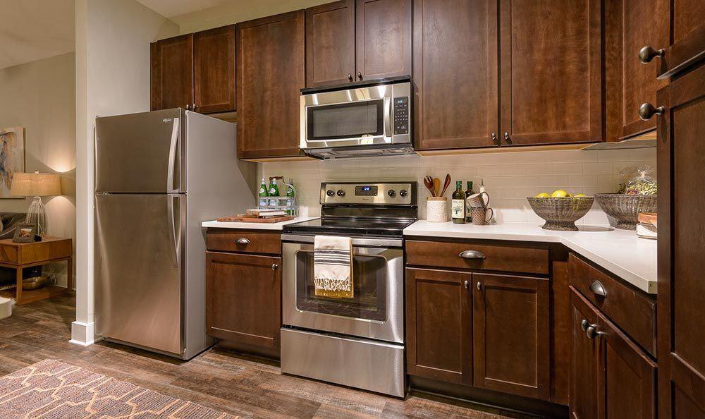 Model kitchen at The Jane Atlanta in Atlanta, GA