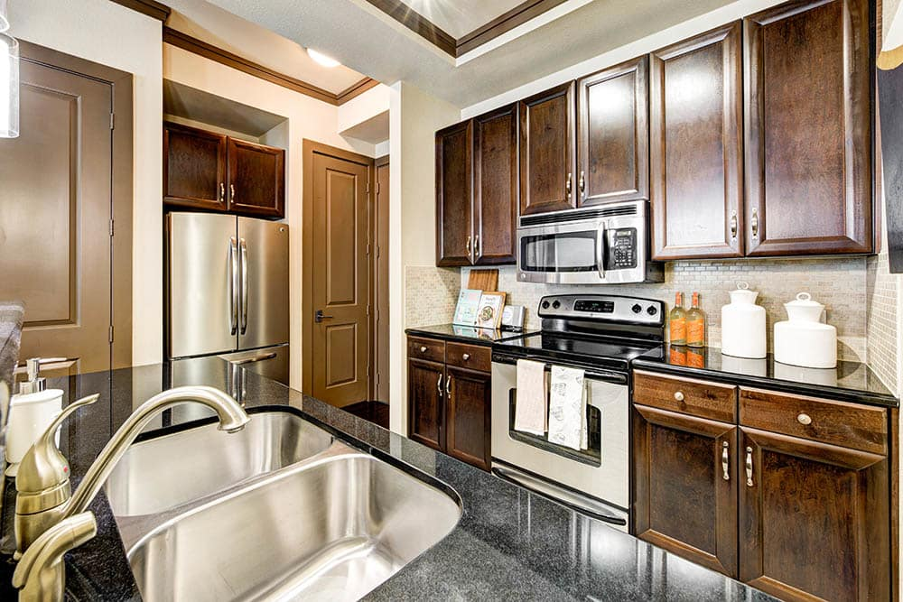 Stainless steel appliances at The Marquis of State Thomas