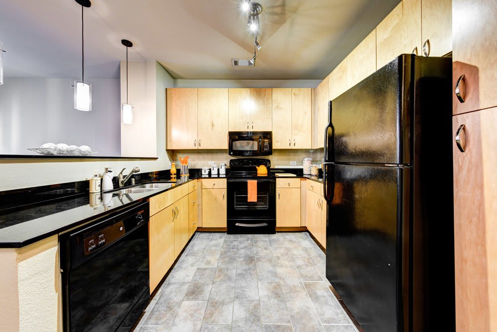 Spacious kitchens at The Marquis of State Thomas