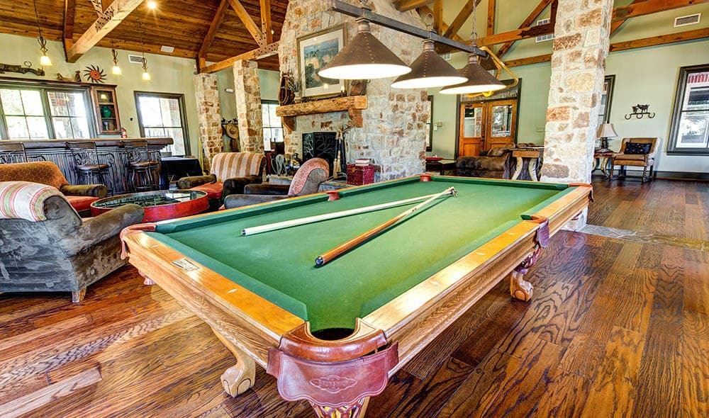 Pool table available at Marquis at Bellaire Ranch, Fort Worth