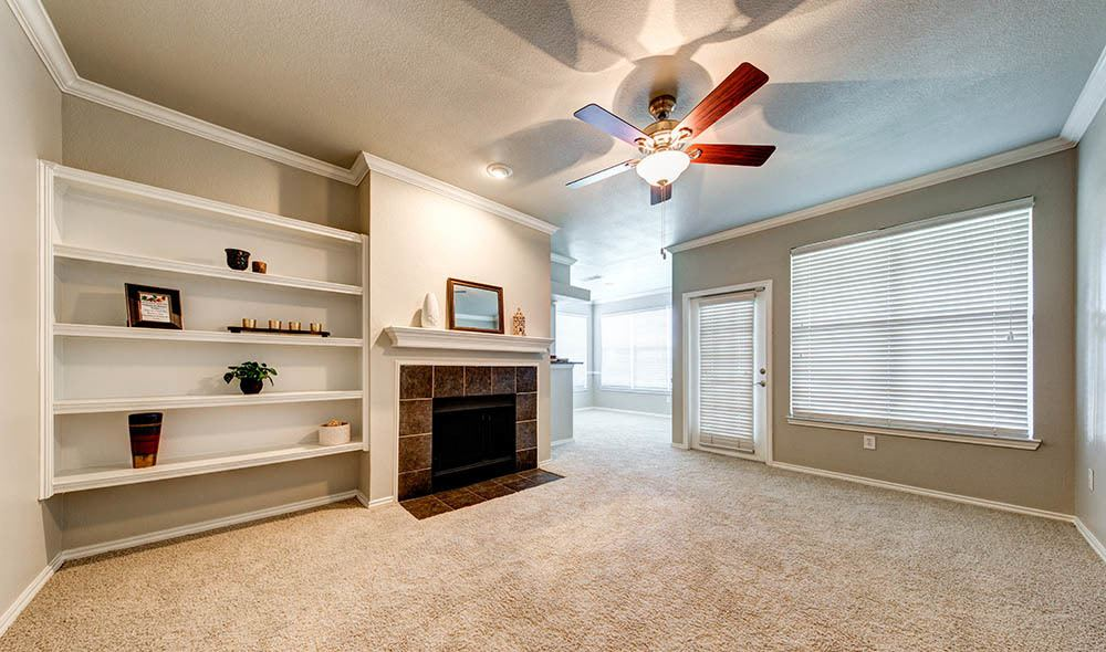 Well thought living room at Marquis at Bellaire Ranch