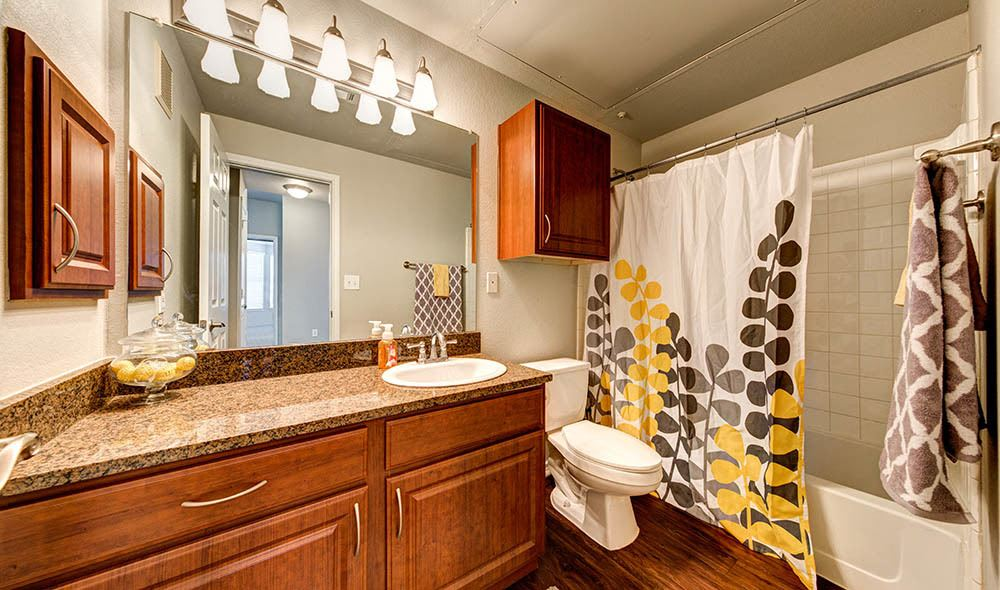 Large bathroom at Marquis at Bellaire Ranch