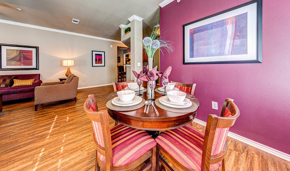 Exquisite dining room at Marquis at Bellaire Ranch