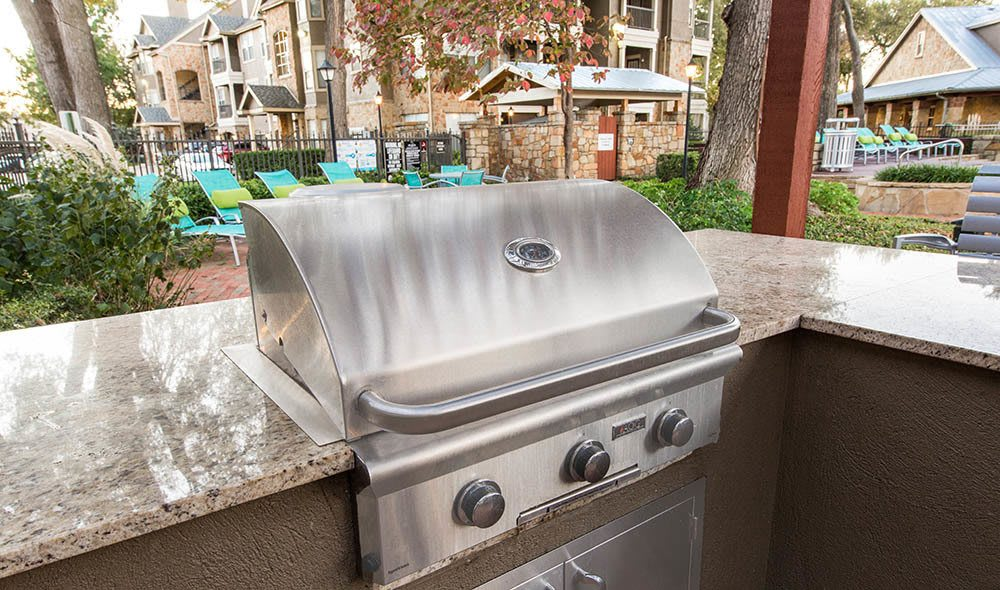 BBQ gas grill at Marquis at Bellaire Ranch, Fort Worth