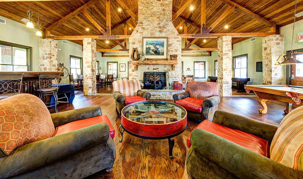 Comfort in the clubhouse of Marquis at Bellaire Ranch, Fort Worth