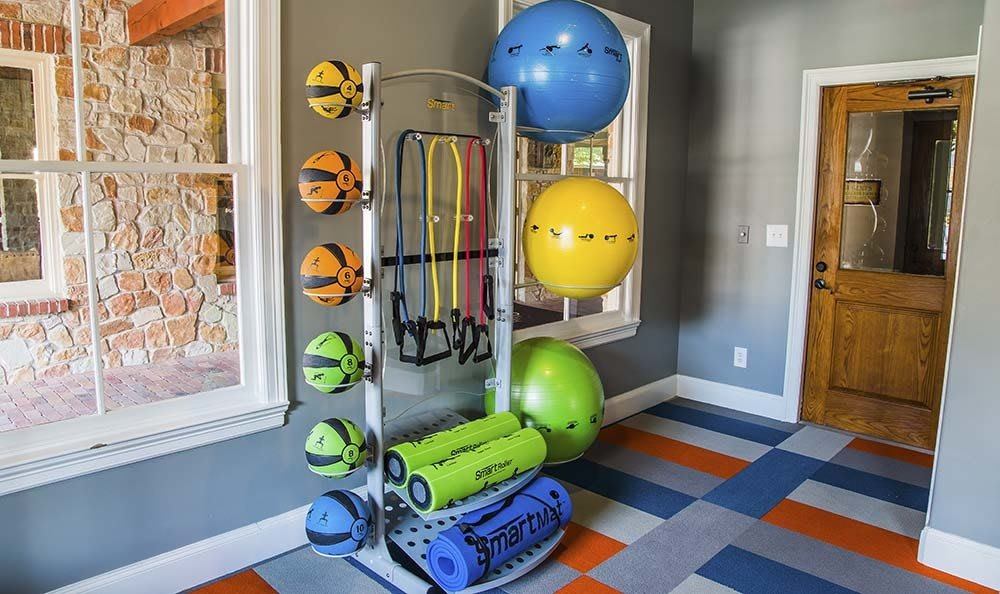Fitness center at Marquis at Bellaire Ranch in Fort Worth, TX