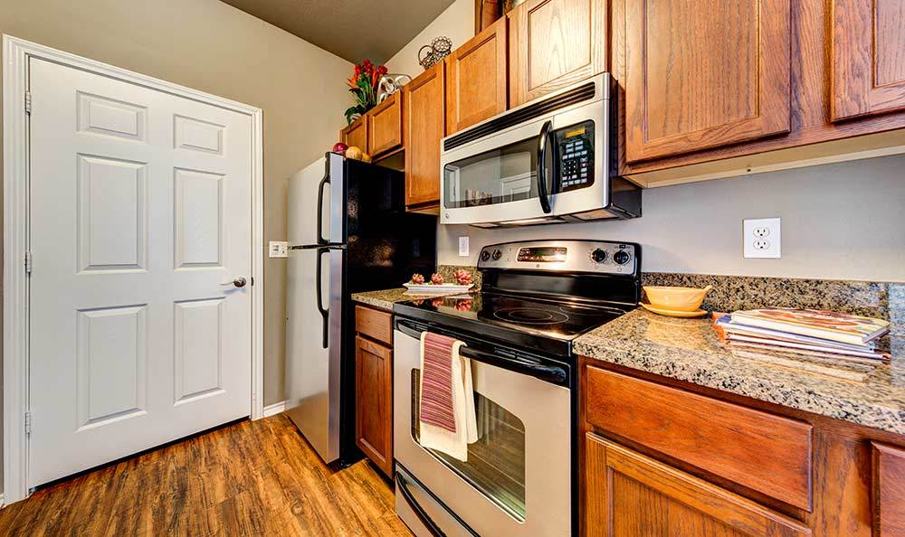 Kitchen at Marquis at Bellaire Ranch in Fort Worth, TX