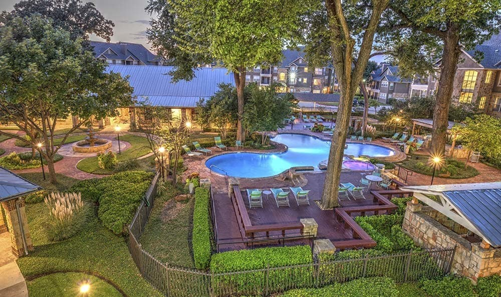 Overview of pool at Marquis at Bellaire Ranch in Fort Worth, TX