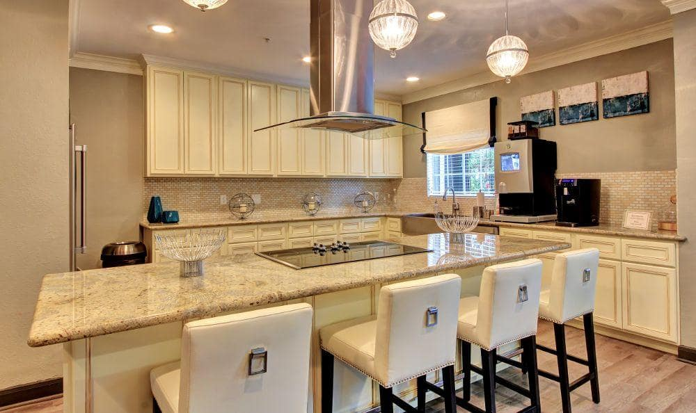 spacious kitchen room at Marquis at Tanglewood in Houston, TX