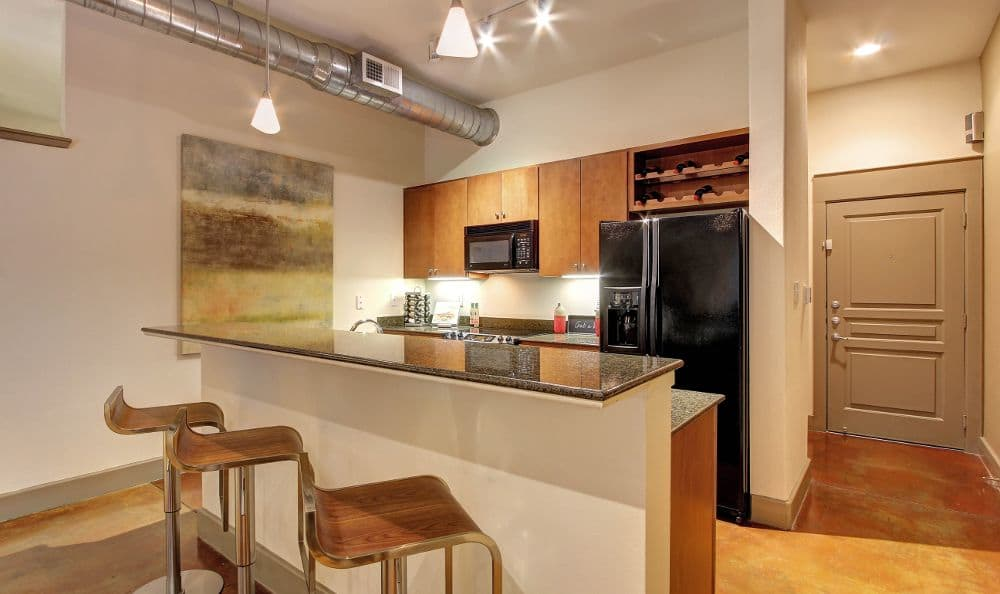 kitchen room at apartments in Houston, TX
