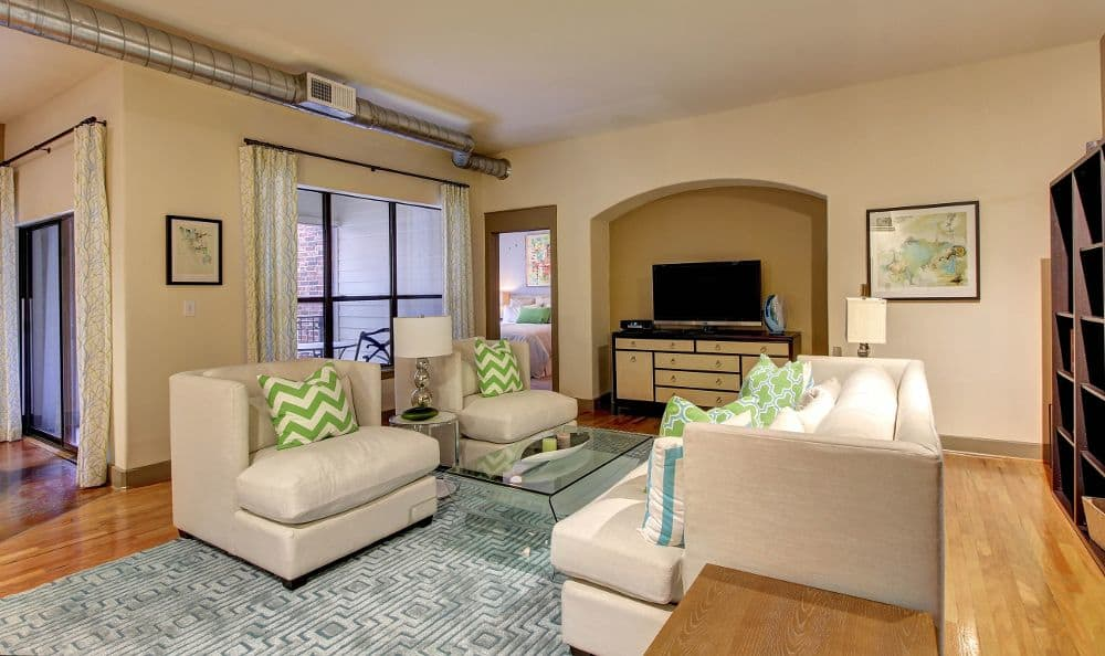 spacious living room at apartments in Houston, TX