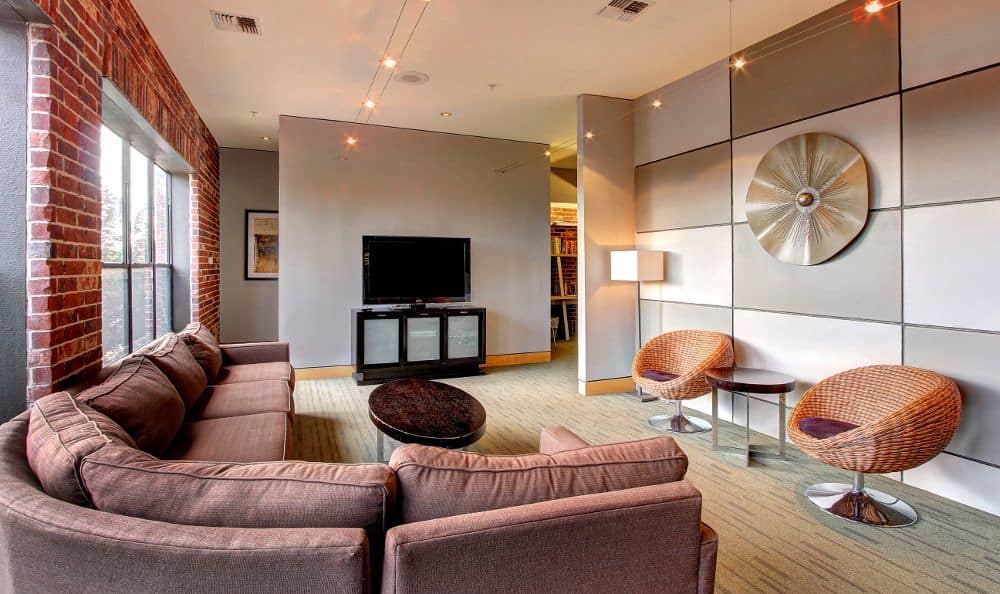 well design living room at apartments in Houston, TX