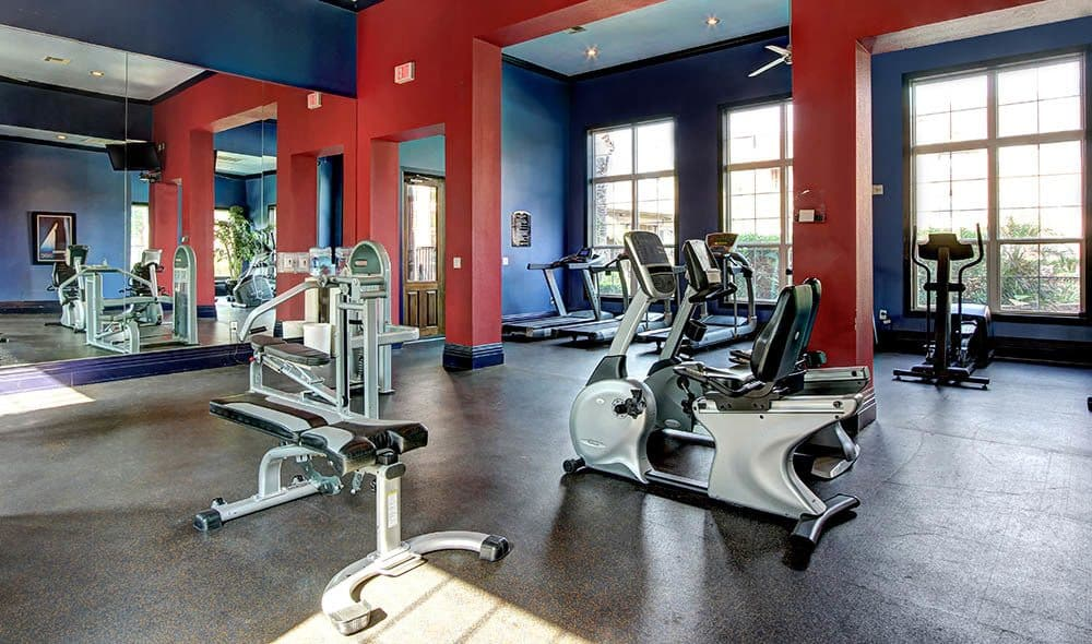 Well equipped gym at Marquis on Briar Forest, Houston