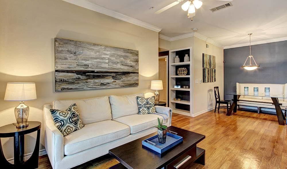 Living room at Marquis on Briar Forest, Houston