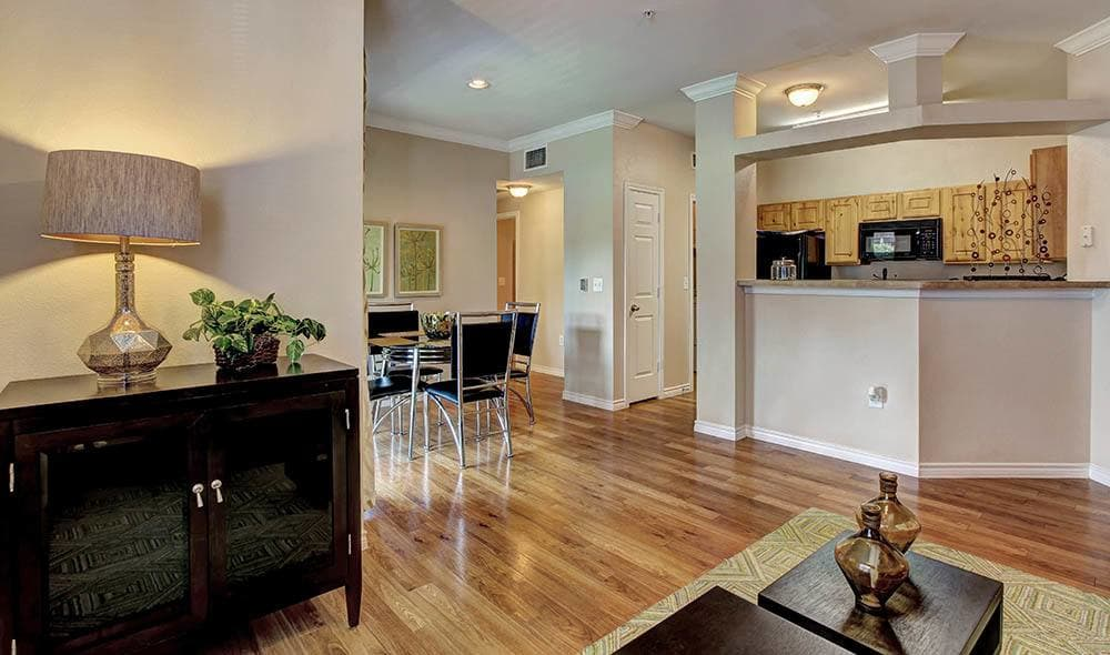 Comfortable living area at Marquis on Briar Forest, Houston