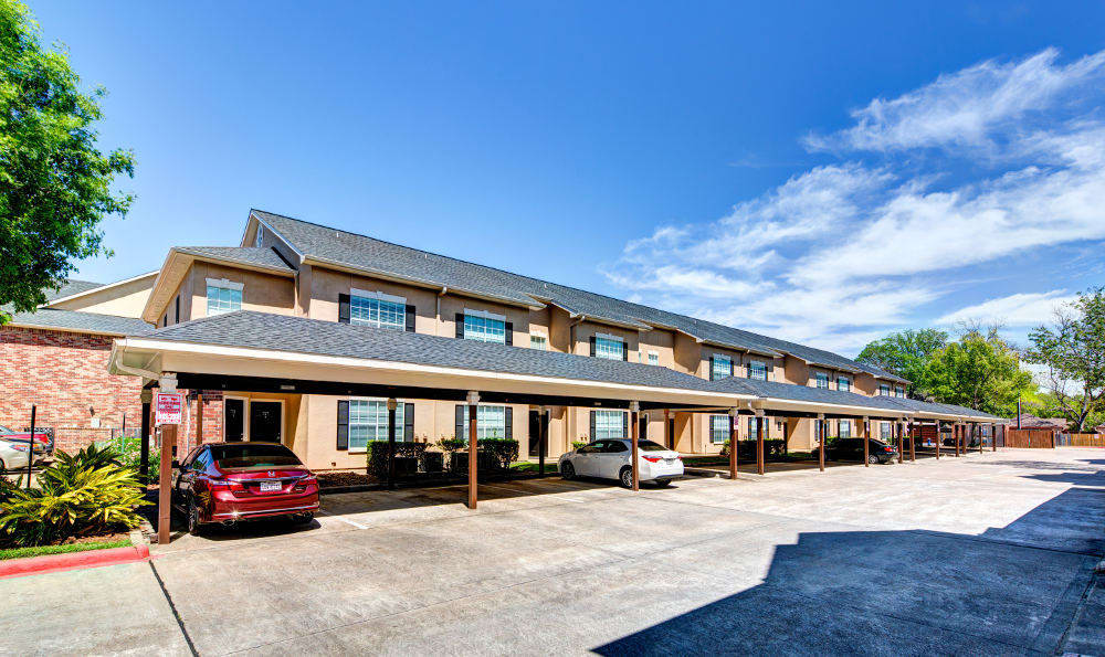Covered parking and garages are available at the apartments for rent in Houston, TX