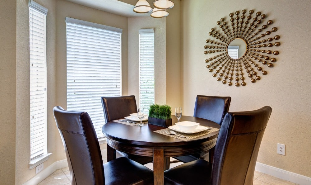 An example dining area in the apartments for rent in Houston, TX