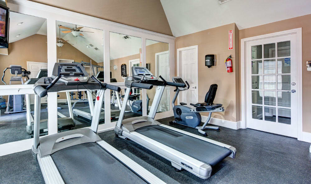 We offer a fitness center to residents at Marquis on Memorial