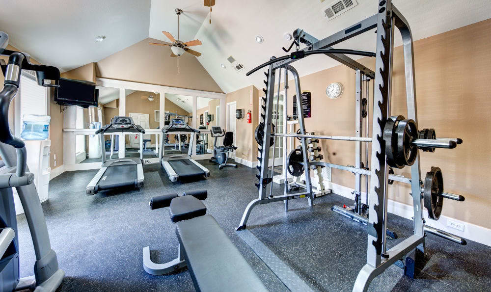 We offer free weights for strength training to our residents at Marquis on Memorial
