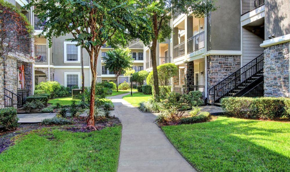 Walking path at apartments in Houston, TX