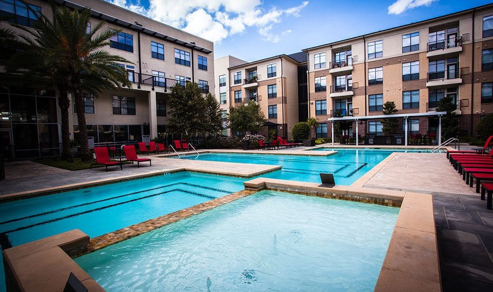 Pool at apartments in Houston, TX