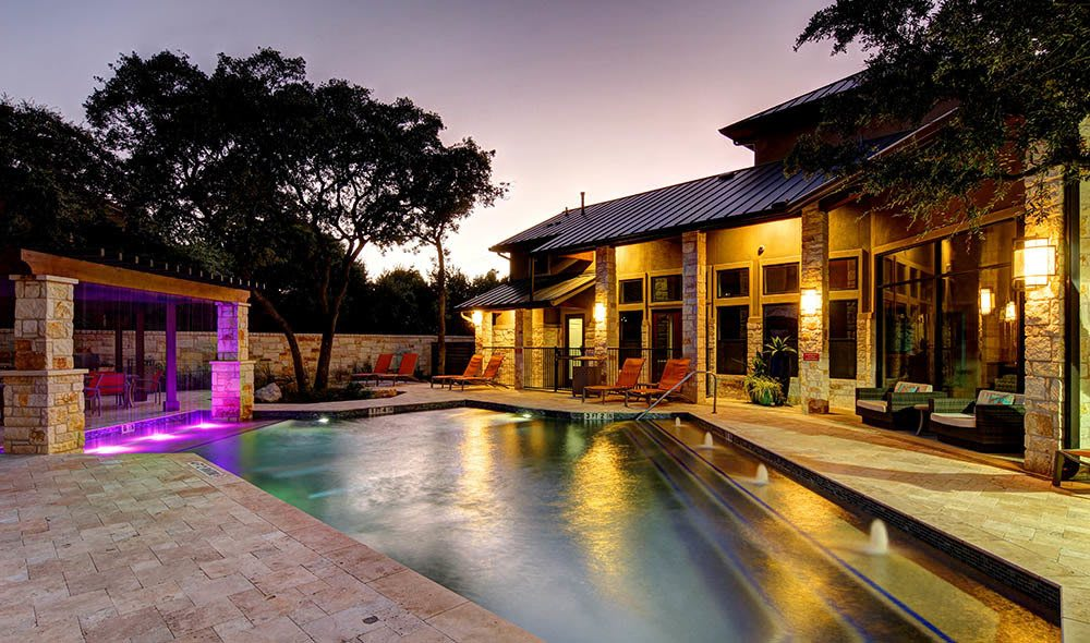 Enjoy the expansive pool at The Marquis at Barton Trails
