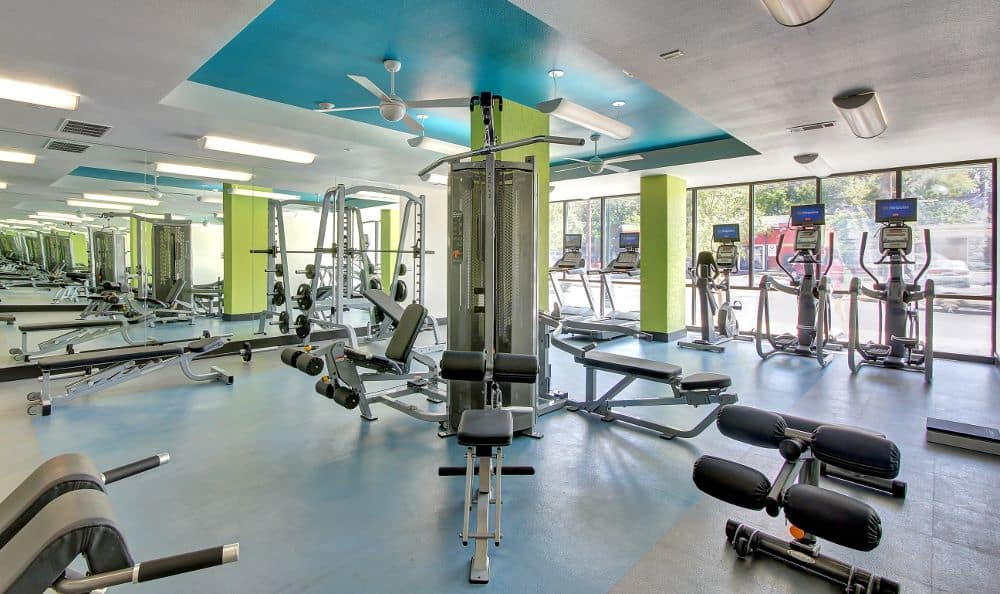 exercise facility at apartments in Austin, TX