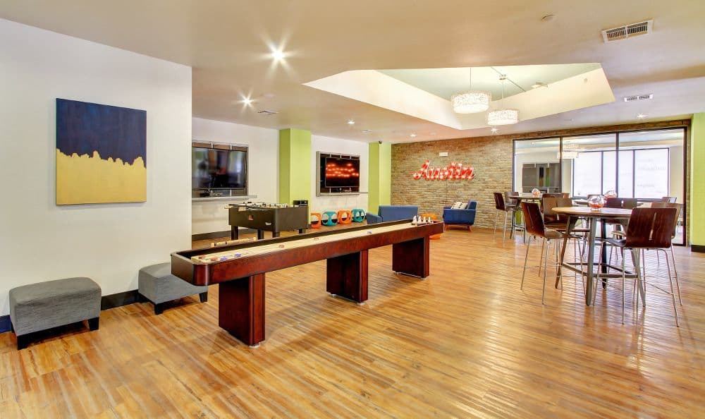 games room at apartments in Austin, TX