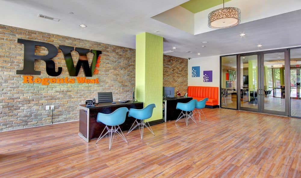 leasing office lobby at apartments in Austin, TX