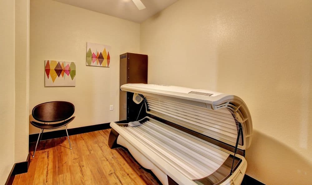 tanning room at apartments in Austin, TX