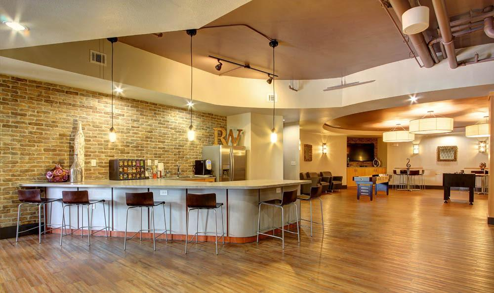 Community lounge at Regents West at 26th in Austin