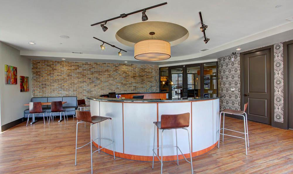 Clubhouse gathering lounge at Regents West at 26th in Austin