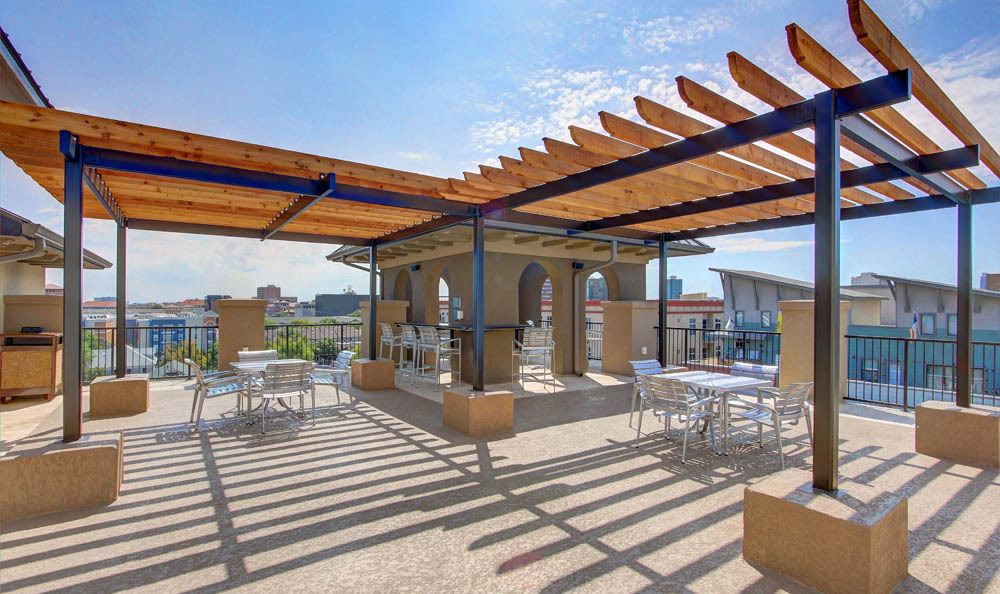 Rooftop terrace of Regents West at 26th in Austin
