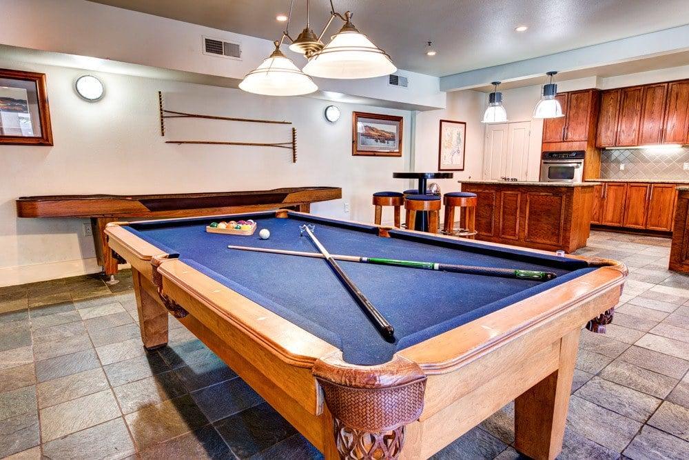 Billiard table at apartments in Dallas, TX