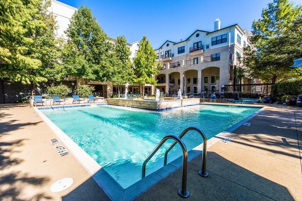 Pool at apartments in Dallas, TX
