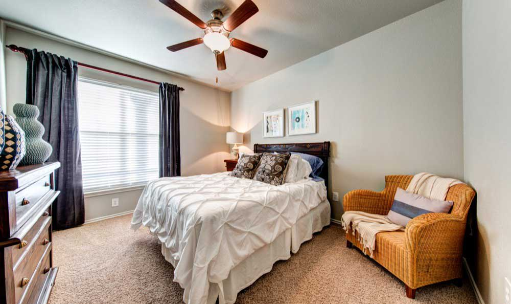Example bedroom at apartments in Flower Mound,  TX
