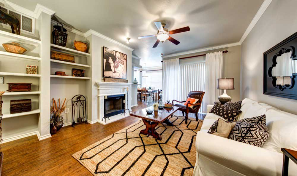 Enjoy family in the living room at Marquis at Lantana in Flower Mound, TX