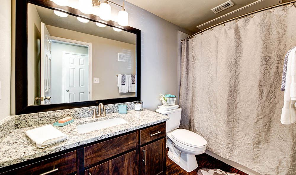 Model bathroom of Marquis at Stonebriar in Frisco, TX
