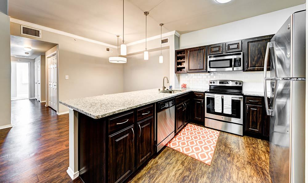 Enjoy the modern kitchen at Marquis at Stonebriar in Frisco, TX