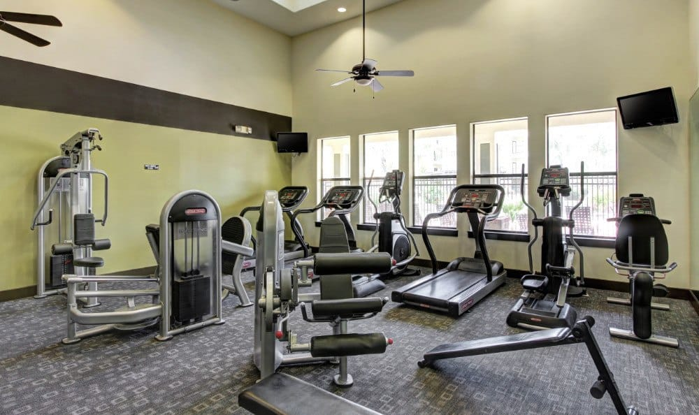 Fitness center at The Marquis at Katy in Katy, TX