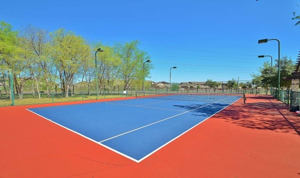 Tennis court offered at Marquis at Waterview